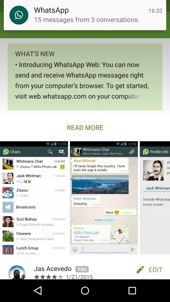 WhatsApp Web Update