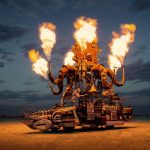Burning Man 2015: fire Tetris and a hacked Boeing 747