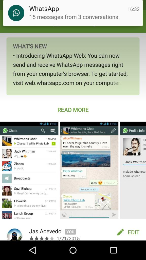 WhatsApp Web Update